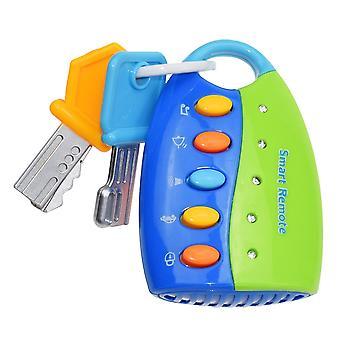 Drôle bébé jouet Musical Car Clé vocale Smart Remote Car Voices Pretend Play
