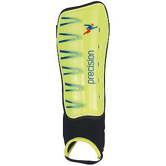 Precision Pro Shin & Ankle Pads Fluo/Lime - Pieni
