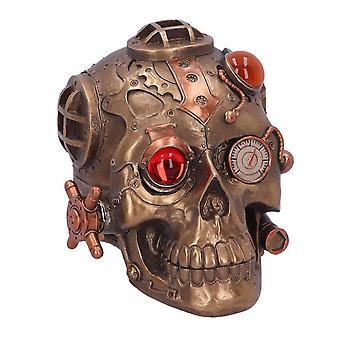 Steampunk bajo presión Adorno de cráneo