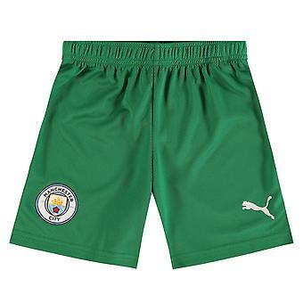 Puma Kids Manchester City Home Goalkeeper Shorts 2021 2022 Junior Bottoms