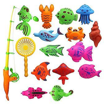 15db Horgász játék vízi játék úszó teknős horgász játék készlet