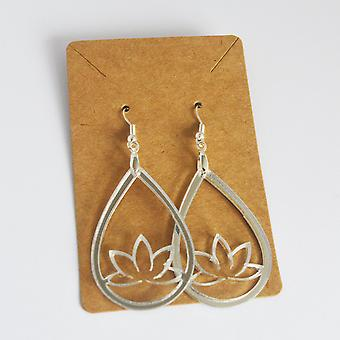 Lotus Flower Teardrop 2 Акриловые серьги