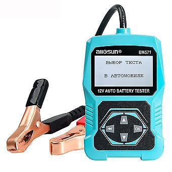 ALL SUN EM571 12V Automotive Digital Battery Tester 100-2000 CCA LCD Cranking Tester ładowania Diagno