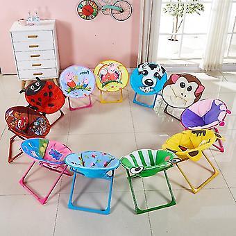 Dzieci Składane Krzesło plażowe Small Moon Recliner Baby Cartoon Oparcie Krzesło Antypoślizgowe Odporne na zużycie
