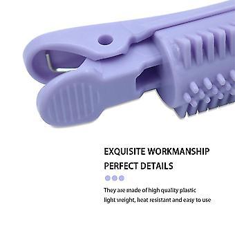 12pcs Hair Roller Clip Wave Hair Styling Root Folder Hairdressing Curler Lamp Hairdresser(Purple)