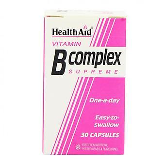 HealthAid B-vitamiinikompleksin korkeimmat kapselit 30 (801015)