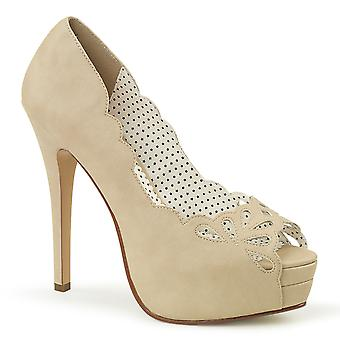 Pin Women's Shoes Up Tan Faux Leather