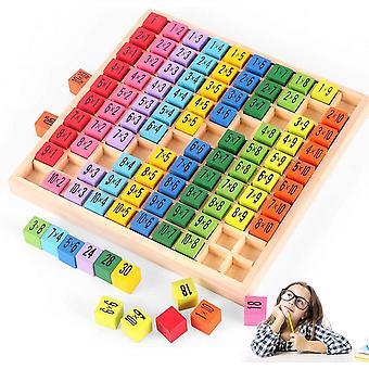 Holz Mathematik Spielzeug, Mathe Lernen Spielzeug, Holzrechenbrett 1x1, Holz
