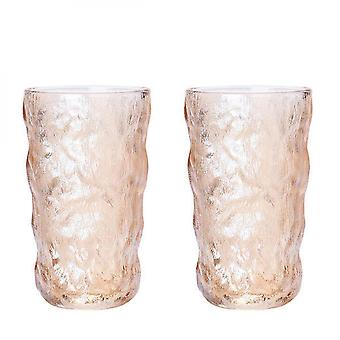2pcs Glacier Pattern Whiskey Glass Cup, Hand-made Glasses Bottle Mugs(tall)
