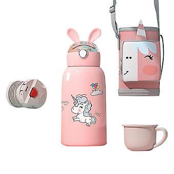 Swotgdoby Portable Cartoon Stainless Steel Vacuum Flask, 550ml Water Cup