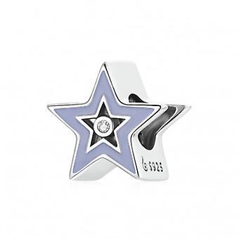 Sterling Silver Charm Purple Star - 7145