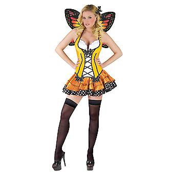 Spring Butterfly Monarch Insect Fairtytale Storybook Fairy Women Costume