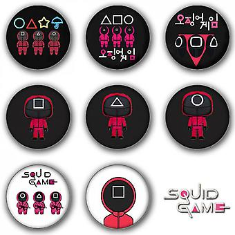 8pcs Squid Game Badge Round Badge Backpack Accessories-58mm