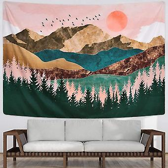 """Mountain Tapestry Forest Treesunset Natural Landscape Tapestry  70.9"""" X 92.5"""""""