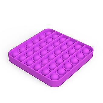 Pop it fidget giocattoli sensoriali sollievo per lo stress e l'ansia (K - Viola)