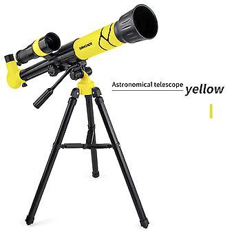 Monokulärt teleskop för barn Hd Fågel tittar gult