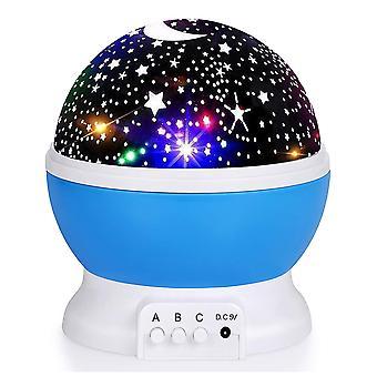 Lasten tähti yövalo, Proyector De Estrella Giratorio De 360 Grados, Lmpara De Escritorio, 4 Luces Led, 8 Värit Cambiantes Con Kaapeli USB;
