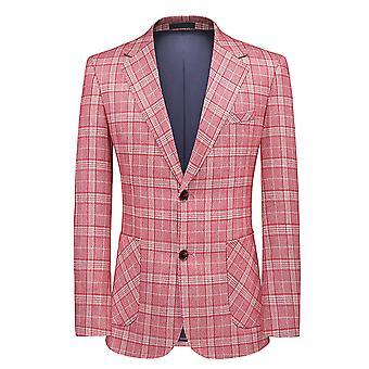 מייל מנס בלייזר רטרו בודק חכם מותאם אישית בכושר וינטג 'בסגנון חליפה ז'קט
