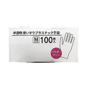 Swotgdoby 100 buc PVC mănuși de unică folosință, translucid, o dimensiune se potrivește cel mai mult