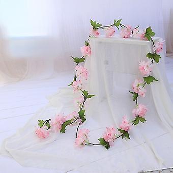 تقليد الكرز زهر الروطان الزفاف تعيين واجهة الديكور