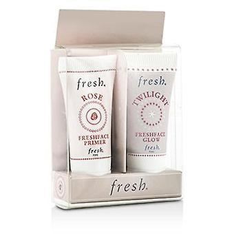 Fresh Prime & Glow Set: 1x Mini Rose Freshface Primer 1x Mini Twilight Freshface Glow - 2x5ml/0.17oz