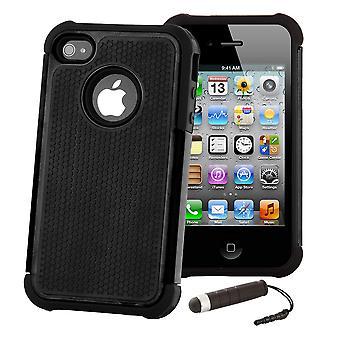Shock Proof fall täcka för Apple iPod Touch 5 - svart