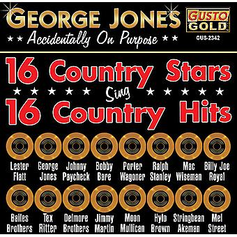 George Jones & Friends - 16 Country Stars Sing 16 Country Hits [CD] USA import