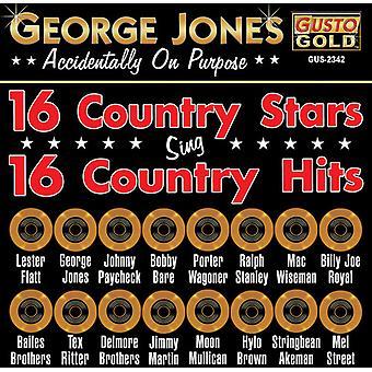 George Jones & vänner - 16 land stjärnor sjunga 16 Country Hits [CD] USA import
