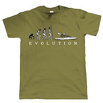 Ewolucja kajakarstwo, śmieszne męskie Tshirt Canoe