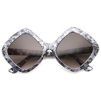 المرأة المتضخم النظارات الشمسية مع عدسة التدرج UV400 المحمية