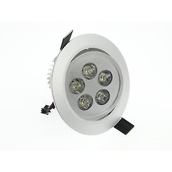 I LumoS High Quality Epistar 5 Watts Silver Circle Aluminium Pure White LED Tiltable Recessed Spot Down light