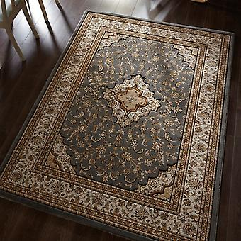 Ottoman Temple Grey  Rectangle Rugs Traditional Rugs