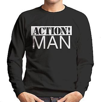 Action Man valkoinen miesten svetaripaita