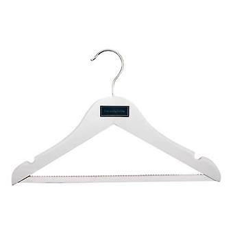 3 Caraselle Childrens Shaped Wooden Hangers with Non-Slip Trouser Bar