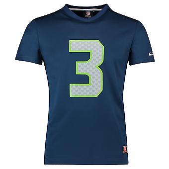 Majestic NFL Jersey shirt - Seattle Seahawks #3 Wilson marine