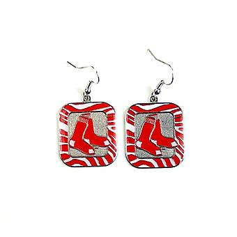 Boston Red Sox MLB cebra estilo pendientes