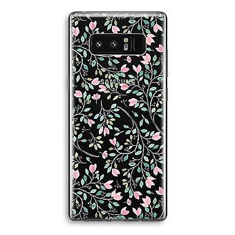 Samsung Galaxy Note 8 gjennomsiktig Case (myk) - delikat blomster