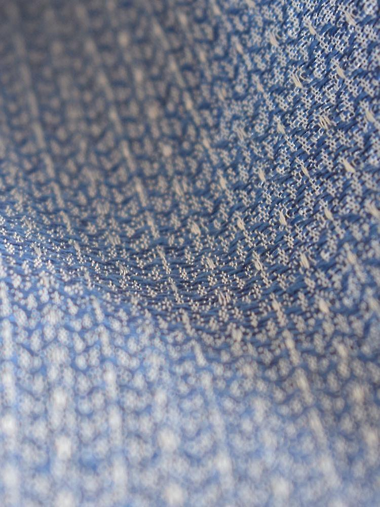 Pinstripe cotton blend scarf – blue & white