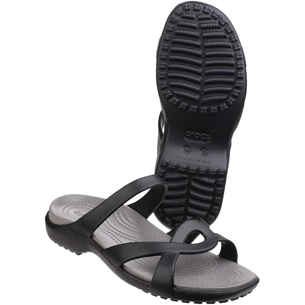 Crocs damdam Meleen Twist lätta Croslite skum sandaler