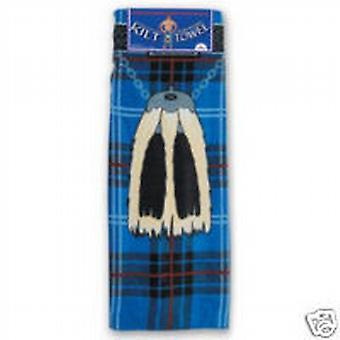 Instakilt Blue Tartan Adults Kilt Towel