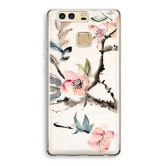 Huawei P9 gjennomsiktig sak (myk) - Japenese blomster