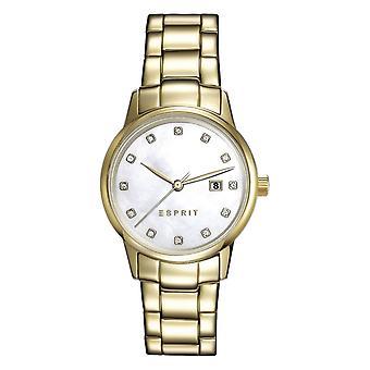 ESPRIT dameshorloge armband horloge Blake roestvrij staal goud ES100S62010