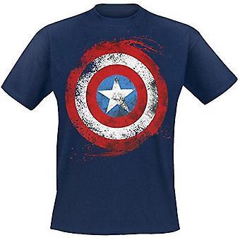 MARVEL COMICS Captain America Shield T-Shirt XL Navy Blue (TS180803MAR-XL)