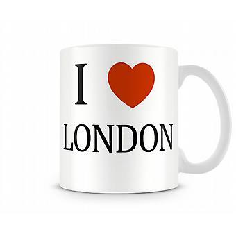 Ich liebe London gedruckten Mug