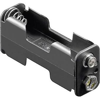Goobay 12461 Battery tray 2x AA Stud and socket (L x W x H) 60 x 26 x 16.5 mm