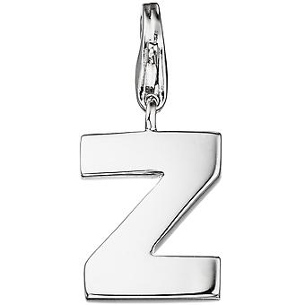 Single earrings charm letter Z 925 sterling silver pendants for charm bracelet