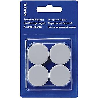 Maul Magnet MAULpro (Ø x H) 30 mm x 10 mm Round, Facet edge Grey 4 pc(s) 6177284