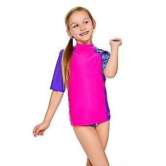 Zoggs Girls Short Sleeve UPF 50+ Sun Top Pink