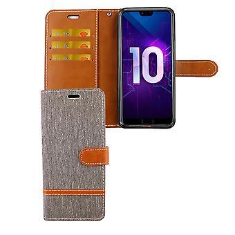 Huawei honor 10 teléfono celular bolsa protectora caso caso cubierta compartimiento bolsa cartera gris
