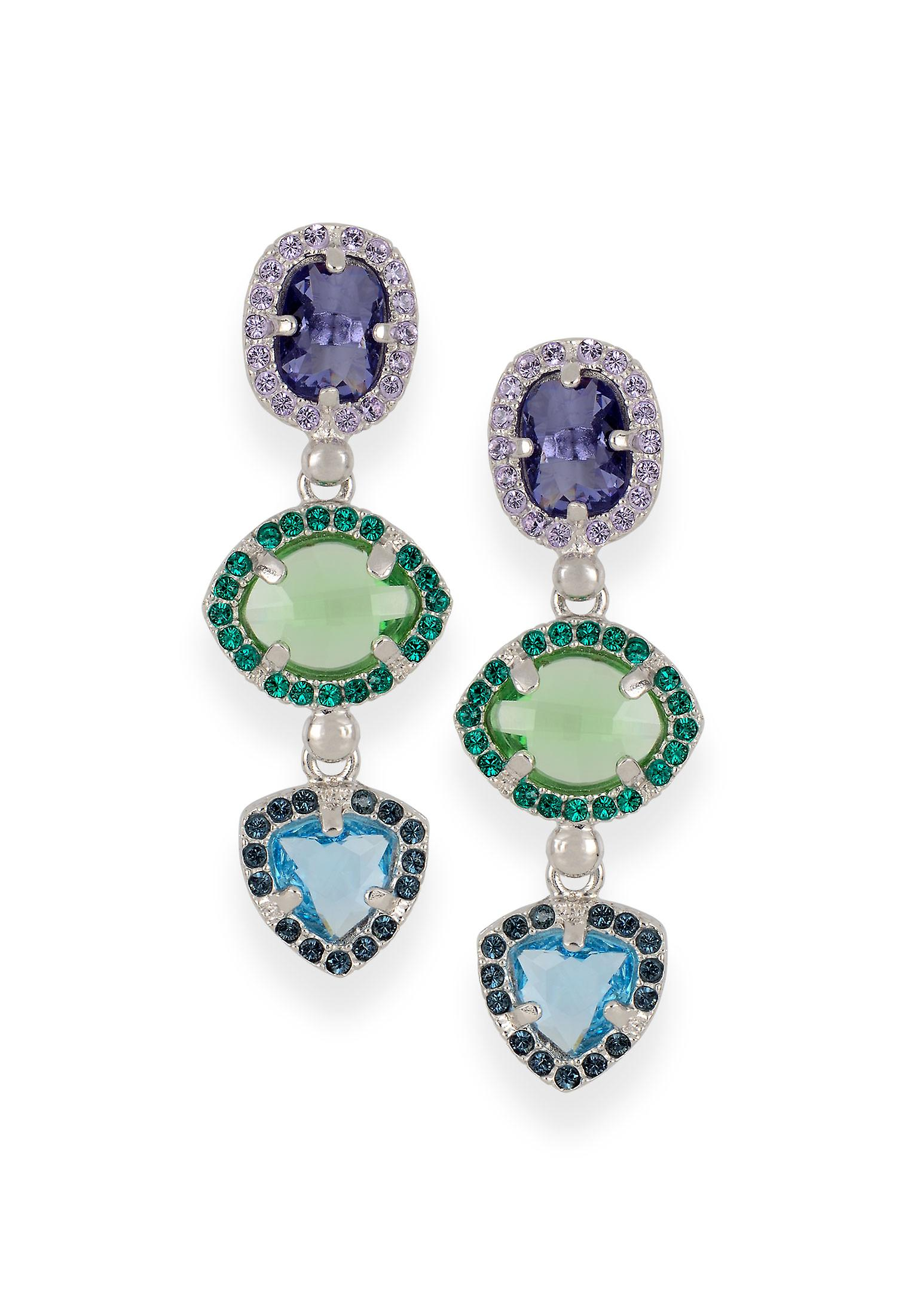Multicolor earrings with crystals from Swarovski 4666